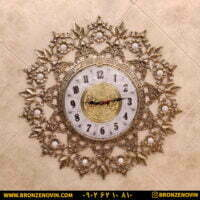 ساعت دیواری برنزی طرج آفتابگردان صفحه ۲۸