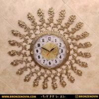 ساعت دیواری برنزی طرح گل رز صفحه 28
