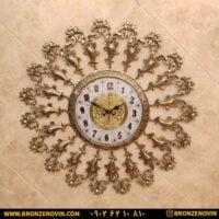 ساعت دیواری برنزی طرح گل نرگس