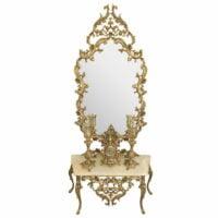 آینه شمعدون عروس برنزی زیبا طرح امپراطور