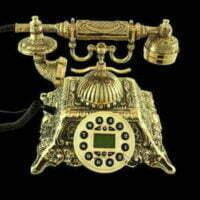 انواع تلفن های کلاسیک و برنزی زیبا