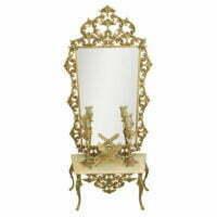 آینه و شمعدان برنزی عروس