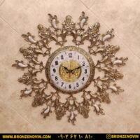 ساعت دیواری برنزی طرح یاسمن صفحه ۲۸