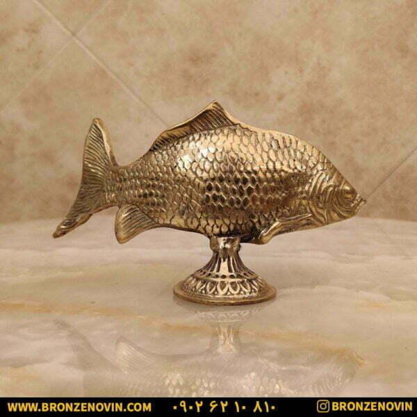 مجسمه برنزی ماهی